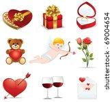 love icons set | Shutterstock .eps vector #69004654