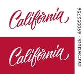 handwritten u.s. state name... | Shutterstock .eps vector #690052756