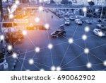 modern and wireless sensor... | Shutterstock . vector #690062902