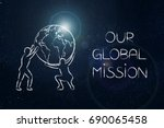 our global mission  company... | Shutterstock . vector #690065458