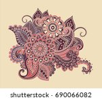 flower pattern bright abstract... | Shutterstock . vector #690066082