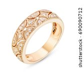 diamonds wedding eternity band... | Shutterstock . vector #690090712