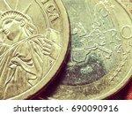 strong dollar   weak euro a... | Shutterstock . vector #690090916