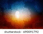 2d illustration finger print  | Shutterstock . vector #690091792