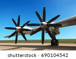 the russian military jet... | Shutterstock . vector #690104542