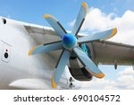 a view of an old turboprop... | Shutterstock . vector #690104572