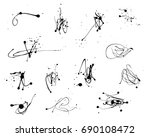 set of vector paint splatters | Shutterstock .eps vector #690108472