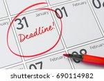 Deadline Written On A Calendar...