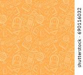 vector seamless simple pattern... | Shutterstock .eps vector #690116032
