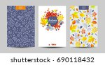 vector set of the autumn... | Shutterstock .eps vector #690118432
