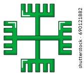 pagan ancient symbol icon....   Shutterstock .eps vector #690121882
