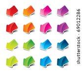 set of multicolored arrows... | Shutterstock .eps vector #69012286