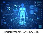 abstract technology science... | Shutterstock .eps vector #690127048