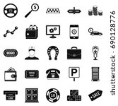 shiner icons set. simple set of ... | Shutterstock .eps vector #690128776