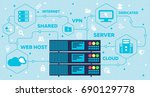 Web Hosting Concept With Rack...