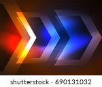 digital technology glowing... | Shutterstock . vector #690131032