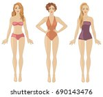 vector illustration with three... | Shutterstock .eps vector #690143476