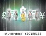 3d people around dollar sign | Shutterstock . vector #690155188