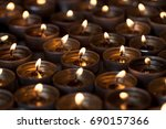 evening candlelight from... | Shutterstock . vector #690157366