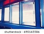 Blue Window In Office.