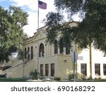 Beaumont, California Carnegie Library established 1914, front right view, an active public library serving the community
