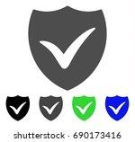 shield valid flat vector icon.... | Shutterstock .eps vector #690173416
