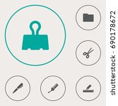 set of 6 instruments icons set... | Shutterstock .eps vector #690178672