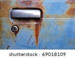 door handle of old car | Shutterstock . vector #69018109