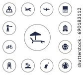 set of 13 relax icons set... | Shutterstock .eps vector #690183112