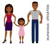 hispanic family with daughter.... | Shutterstock .eps vector #690187036