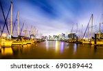 night scenes around corpus... | Shutterstock . vector #690189442