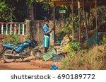 india  goa   december 10  2016  ... | Shutterstock . vector #690189772