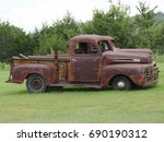 Rusty Old Pickup Truck With...