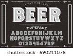 script handcrafted vector... | Shutterstock .eps vector #690211078