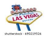 the fabulous welcome las vegas... | Shutterstock . vector #690219526