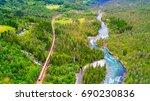 train oslo   bergen in... | Shutterstock . vector #690230836