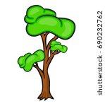 cartoon tree vector symbol icon ... | Shutterstock .eps vector #690232762