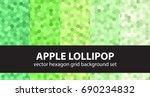 hexagon pattern set apple...   Shutterstock .eps vector #690234832