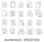 report line icon. vector... | Shutterstock .eps vector #690237352