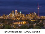 night in toronto  | Shutterstock . vector #690248455