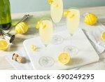 boozy bubbly lemon french 75...   Shutterstock . vector #690249295