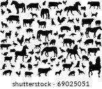 Stock vector farm animals vector 69025051