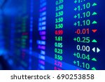 stock market graph and ticker... | Shutterstock . vector #690253858