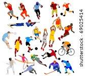 sport clip art | Shutterstock .eps vector #69025414