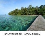 bira island  located in one of... | Shutterstock . vector #690255082