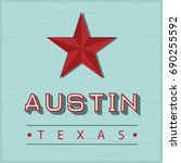 austin texas sign | Shutterstock .eps vector #690255592