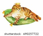 Royal King Cat With Crown...