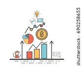 business corporate strategy to... | Shutterstock .eps vector #690258655