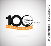 100 years anniversary logo...   Shutterstock .eps vector #690265342