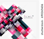 abstract blocks template design ... | Shutterstock . vector #690265606